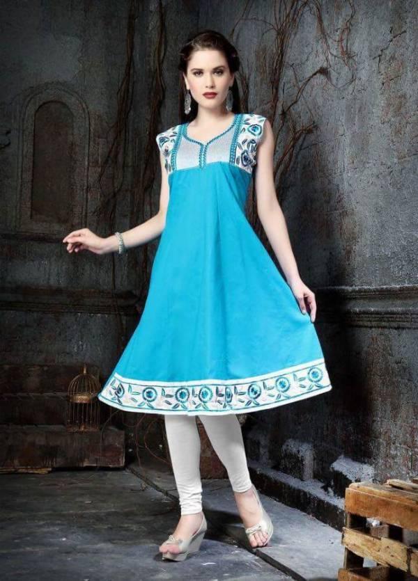 Kersom Niharika 9 Latest Designer Anarkai Kurti With Beautiful Neck Designs And Work