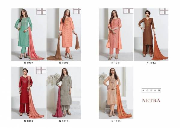 Neaha Fashion Netra Tussel silk with cotton inner and Heavy Embroidery in Zari and Sequence Work Salwar Suits With Embroidery Work Plazzo