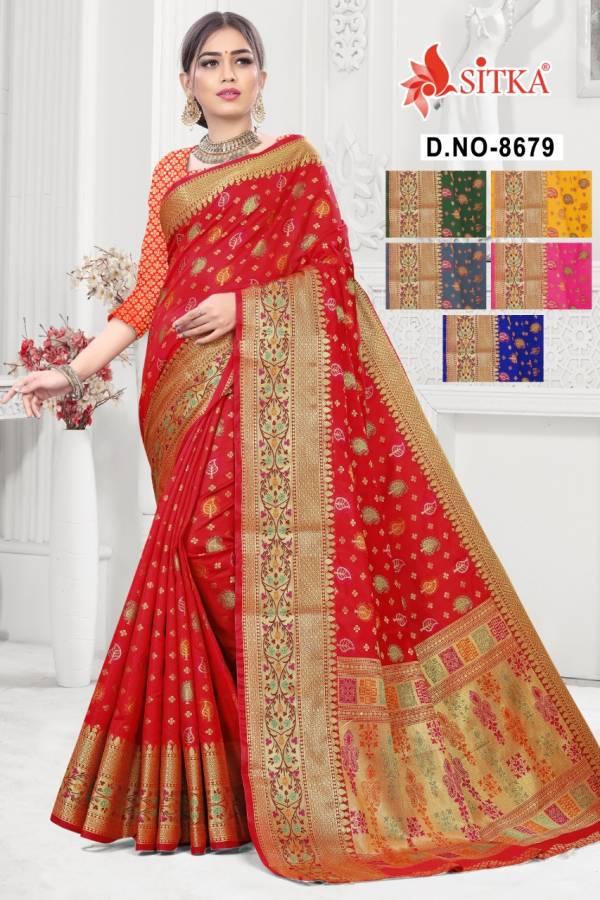 Deewa Mangal 867 Designer Wedding Wear Handloom cotton silk Sarees Collection