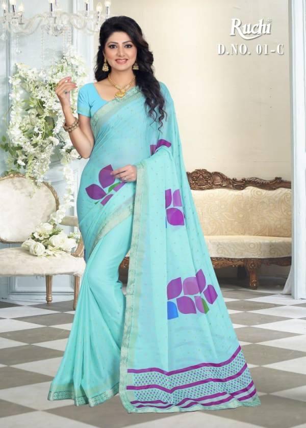 RUCHI Latest fancy Designer Regular Casual Wear silk georgette Saree Collection