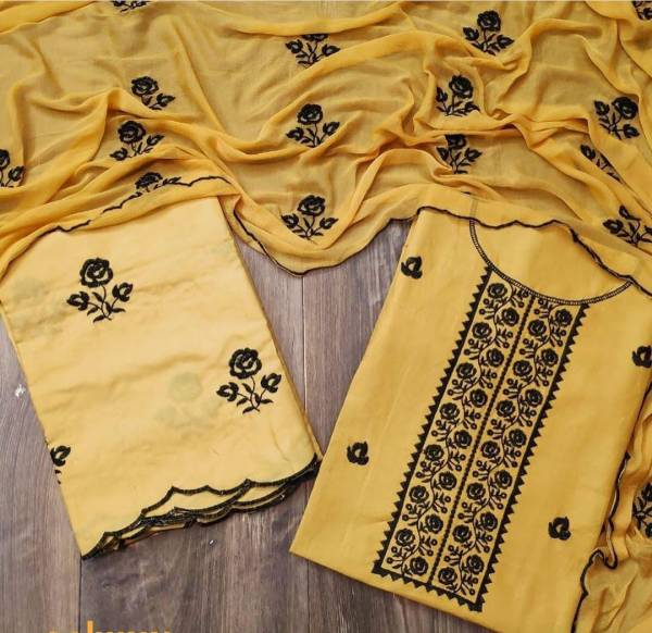 New Updated Collection Of Pure Cotton Dress Material With Nazneen Dupatta