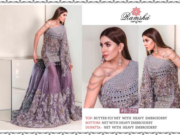Ramsha R 279 Nx Latest Fancy Designer Wedding Wear Butterfly Net With Heavy Embroidery Work Salwar Kameez Collection