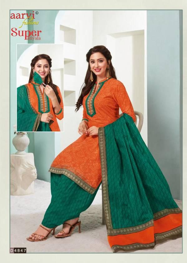 Aarvi Super Patiyala 2 Latest Designer Printed Cotton Dress Material Collection