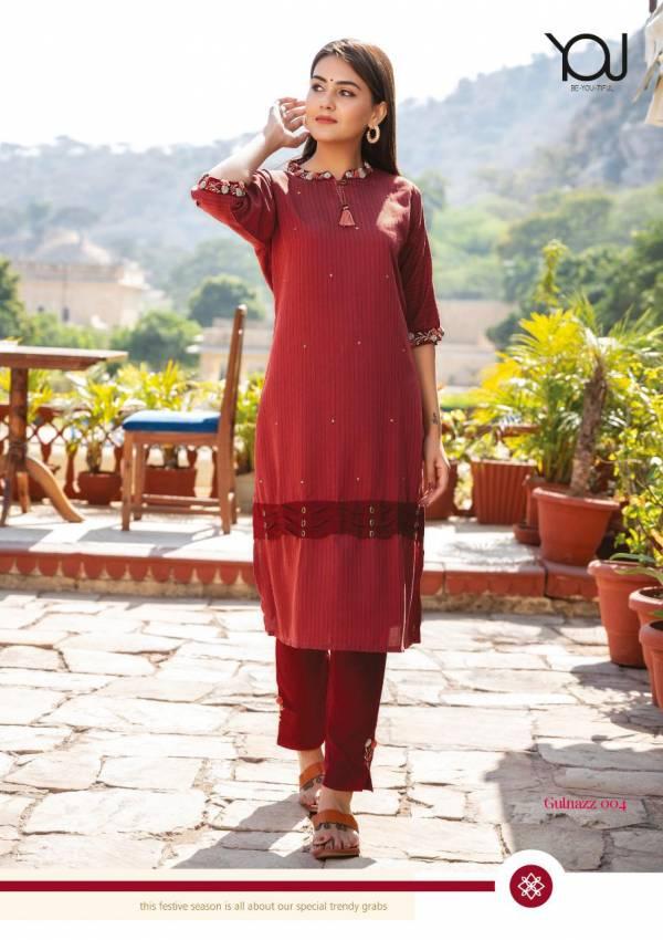 You Gulnaaz Attractive Designer Heavy Latest Fancy Festive Wear Designer Kurtia With Bottom Collection