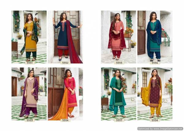 Kessi Patiala House 77 Launch New designer Party Wear Festive Embroidery Work Dress Material With Chinon Work Four Side Lace Work Dupatta