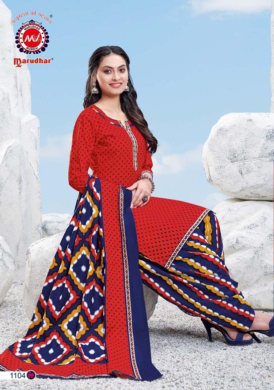 Marudhar Fashion Sunheri 11 Ready Made Casual Wear Cotton Printed Salwar Suit Collection