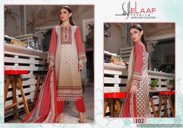 Elaaf Latest Designer Printed Karachi Cotton Dress Material Collection
