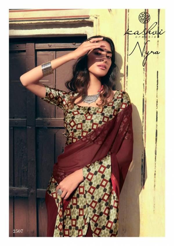 KASHVI NYRA Latest Fancy Festive Wear Weightless Satin Patta With Satin Blouse Saree Collection