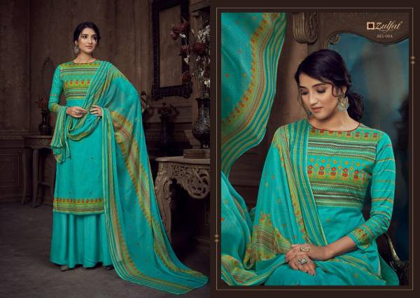 Zulfat Summer Style Exclusive Latest fancy Casual Wear Cotton Printed Designer Dress Material Collection