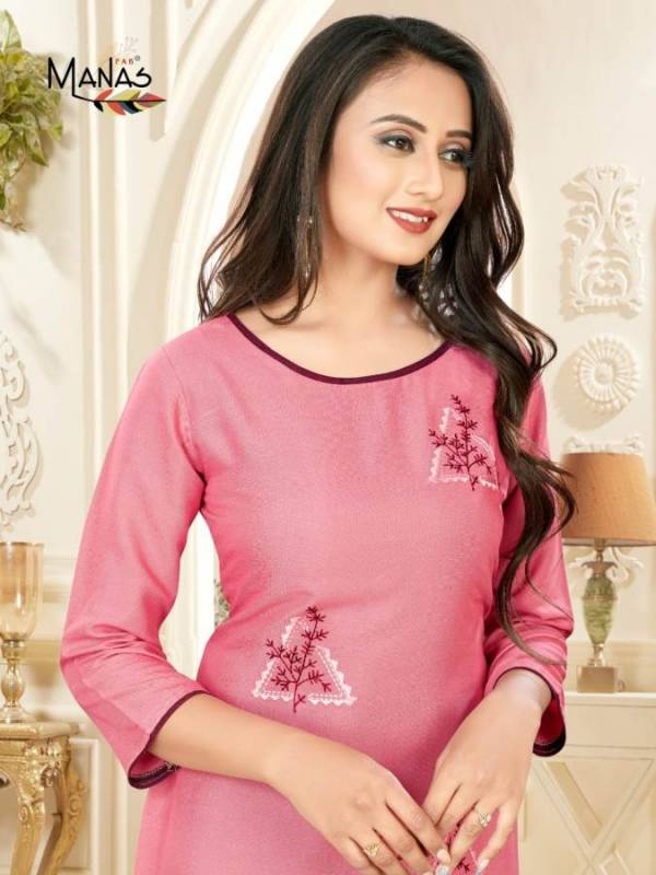 Manas Priyal Vol 7 Latest Designer Casual Wear Kurtis Collection With Embroidery Work