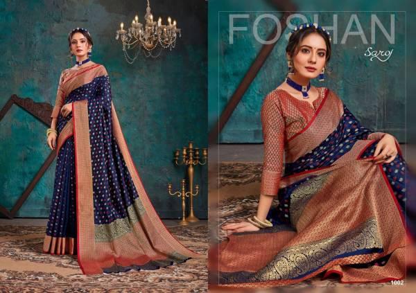 Saroj Aashikee Latest Designer Heavy Festival Wear Cotton Silk Saree Collection