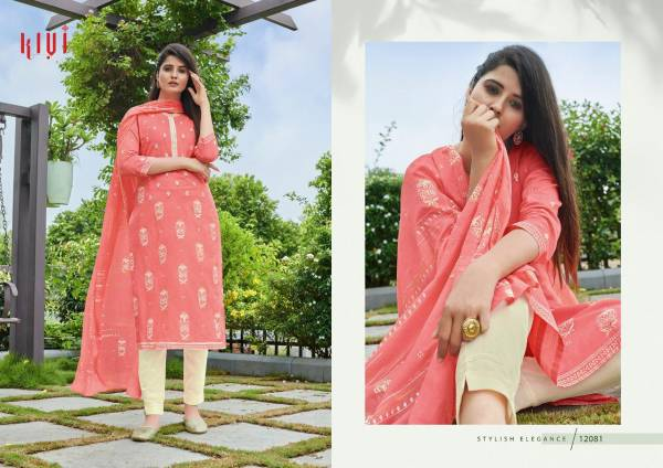 KIVI Rapid Pure Cotton Block Print with Khatli Work Readymade Designer Daily wear Salwar Kameez Collections