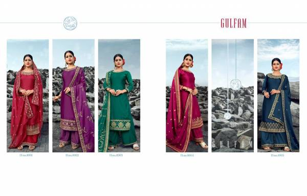 Gulfam 1001 Series Designer Exclusive Collection Of Festive Wear Suit Collection With Heavy Embroidery And Heavy Embroidery With Hand Work Dupatta