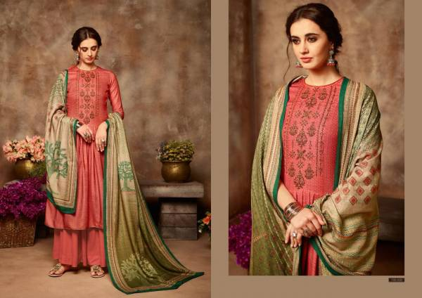 Yasmin Latest Designer Party Wear Pure Pashmina Work With Pure Kashmiri Wool Digital Printed Dupatta