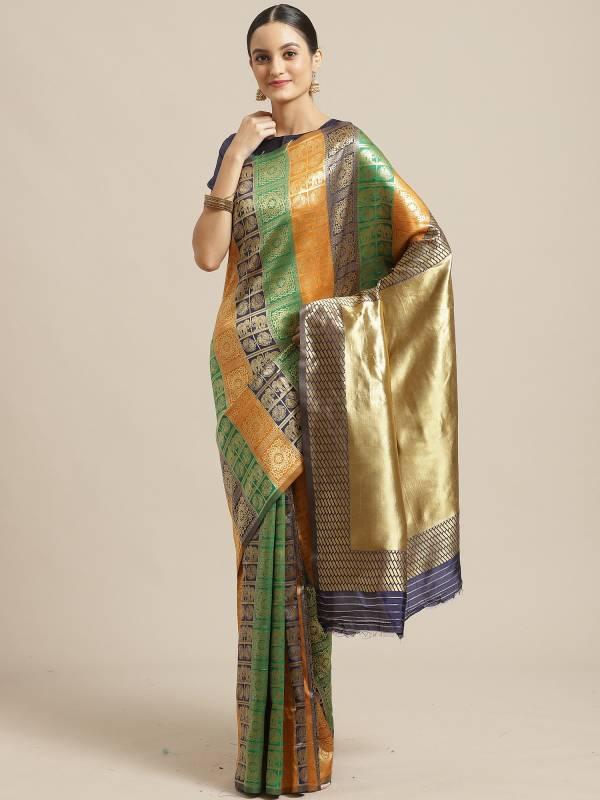 Banarasi Silk Beautiful Designer Printed Saree collection