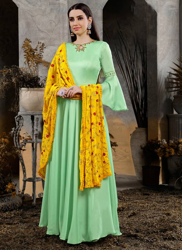 Virasat Vol-7 Designer Gowns With Heavy Look and Beautifull Embroidered Designer Party Wear Gown Collections