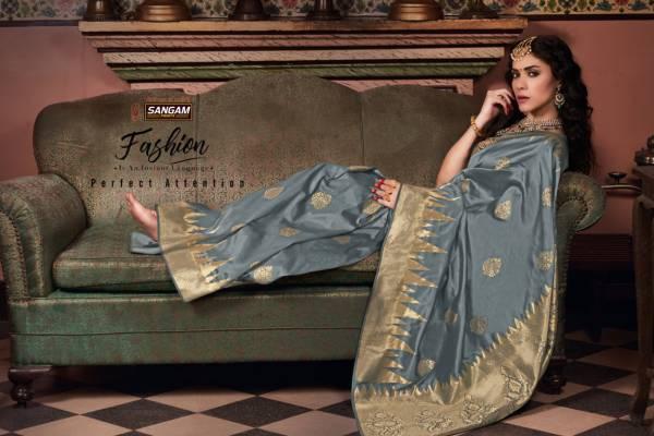 Sangam Padmakshi Latest Heavy fancy Festive Wear Banarsi Silk Sarees Collection