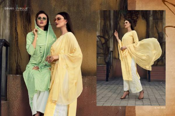 Seven Thread Latest Ready Made Designer Casual Wear Cotton Suit With Naznin Dupatta Collection