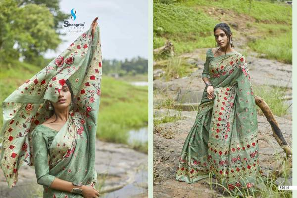 Shangrila Rashmi Fancy Georgette Digital Printed Casual Wear Saree Collection