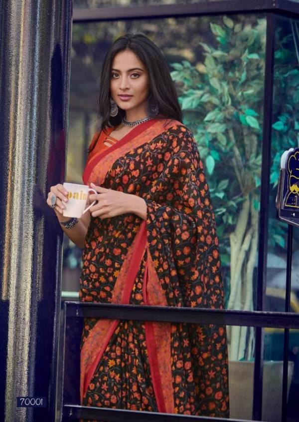 Lt Kala Kruti Latest fancy designer Regular Casual Wear Kashmiri Digital Printed Saree Collection
