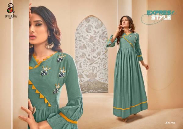 Anyuka Blush Latest Pretty Casual Wear Stylish Kurti Collection