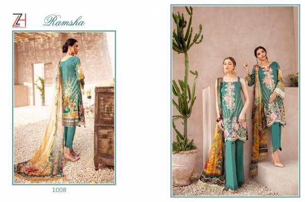 Zaura Hassan Ramsha Latest Designer Fancy Festive Wear Collection With Pure Chiffon Dupatta