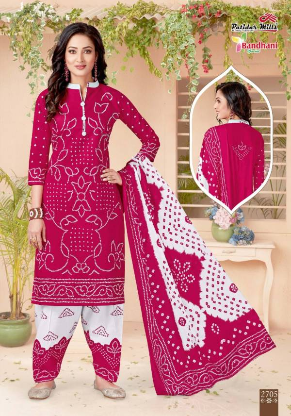 Patidar Bandhani Special Vol 27 Latest Exclusive Designer Pure Cotton Printed Dress Material Collection With Cotton Dupatta