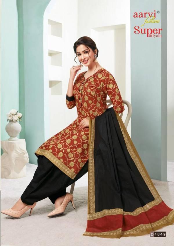 Aarvi Super Patiyala 2 Ready Made Regular Wear Patiyala Collection With Mal Mal Dupatta