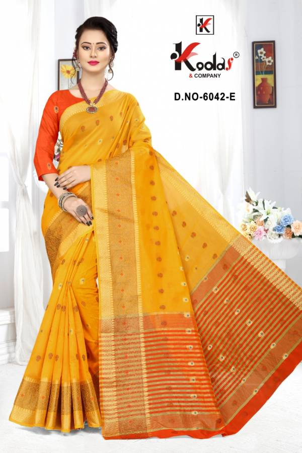 Tripti 6042 Casual Wear Cotton Silk Designer Sarees Collection