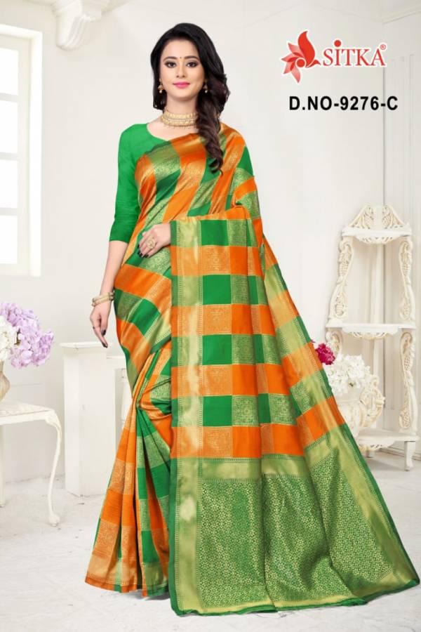 Bhagyalaxmi 9276 Handloom Latest Fancy Designer Casual Wear Cotton Silk Saree Collection