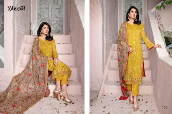 Noor Chevron 3 Embroidery Festive Wear Georgette Salwar Kameez Collection