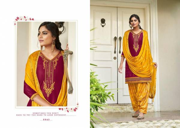 Kessi Sringar By Patiyala House Vol-17 Jam Silk Cotton Embroidery work with Jacquard Bottom Unstiched Punjabi Patiyala Salwar Suit Collections