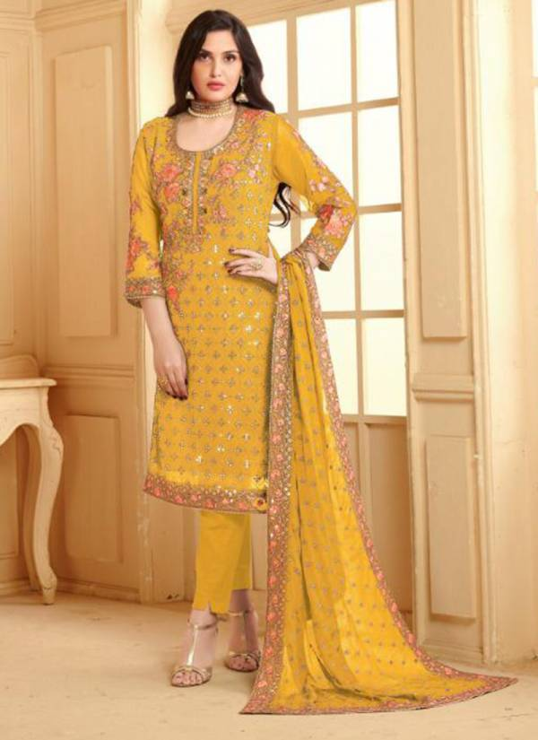 Oye Kudi 2 Pure Viscose Chinnon Embroidered Designer Party Wear Salwar Suit Collection 3354-3357