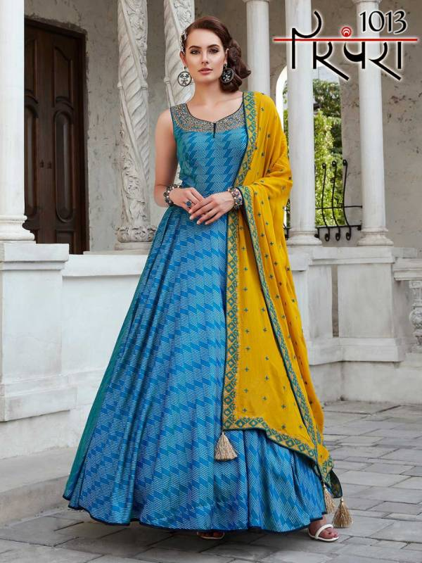 Latest Designer Function Wear Ready Made Gown Style Floor Length Salwar Suit Collection