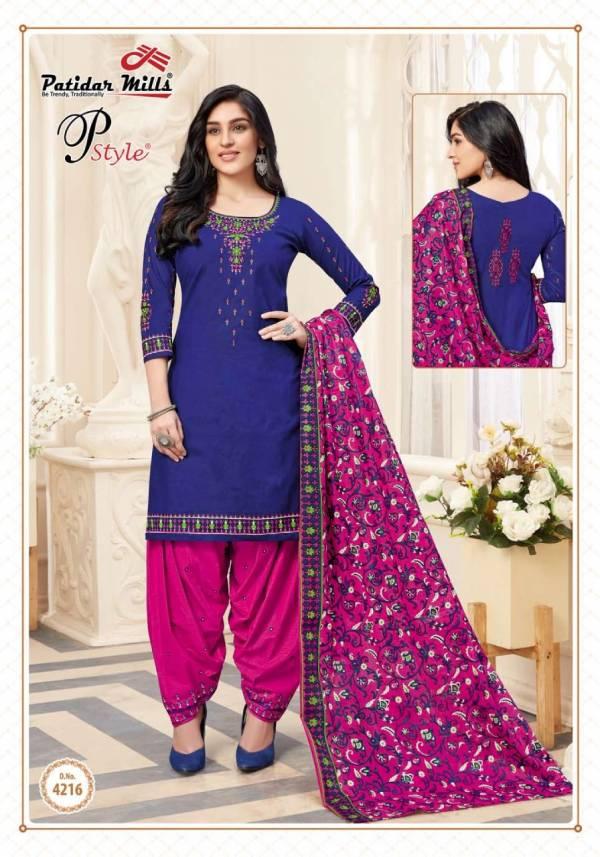 Patidar P Style 42 Latest fancy Designer Regular Wear Printed Cotton Collection