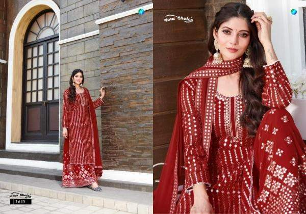 Y.c Galaxy Latest Fancy Casual Wear Georgette Top And Bottom With Heavy Chiffon Dupatta Dress Material Collection