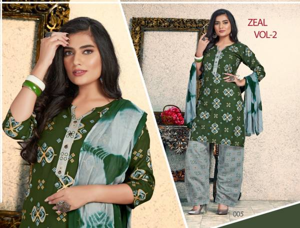 Trendy Zeal 2 Latest Fancy Designer Casual Regular Wear Rayon Printed Readymade Collection