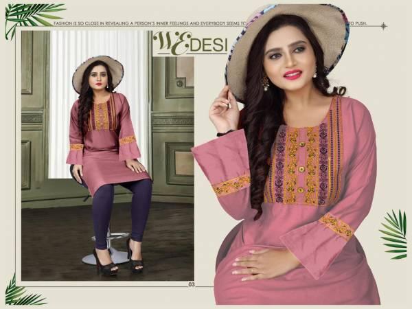 Aagya Wedesi 2 Fancy Casual Wear Designer Rayon Kurti Collection