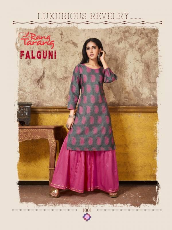 Rang Tarang Falguni Latest Collection Of Designer Party Wear Casual Wear Kurtis With Plazzo