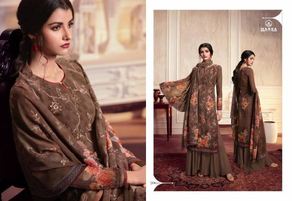 HUSNA Misty Georgette Digital Print with Ari Work and Sequence Work Printed Designer Salwar Suit Collections