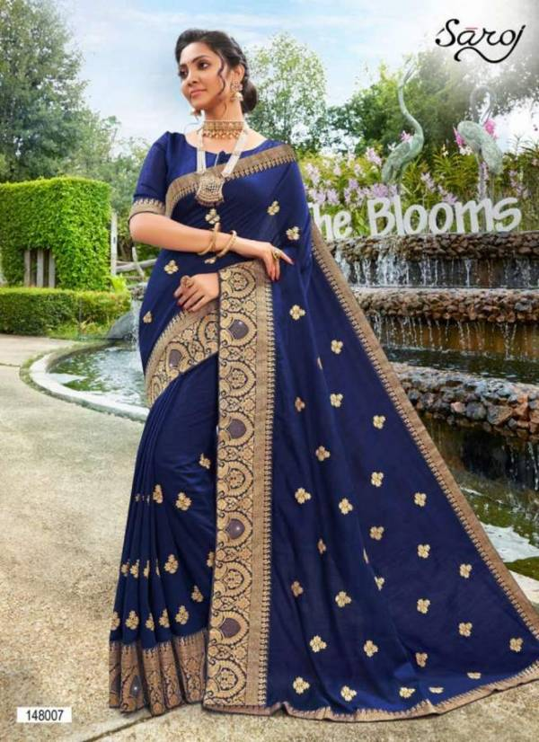 Saroj Jyotika Vichitra Silk Festive Wear Designer Wedding Saree Collection at Wholesale Price