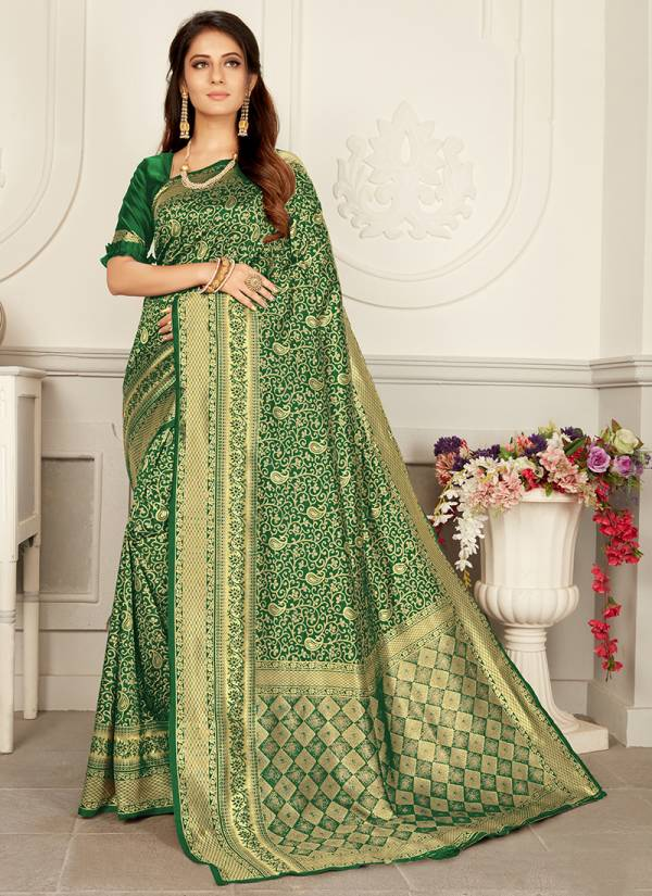 Vartika Vol 21 Woven Silk New Designer Party Wear Sarees Collection 2101-2106