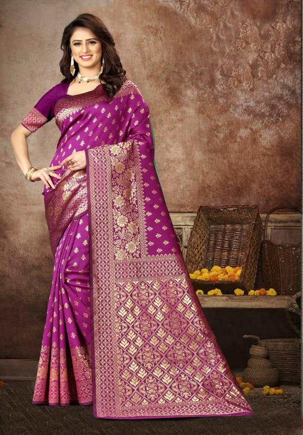 Bridal Wedding Wear Latest Designer Heavy Bnarasi Silk Saree Collection