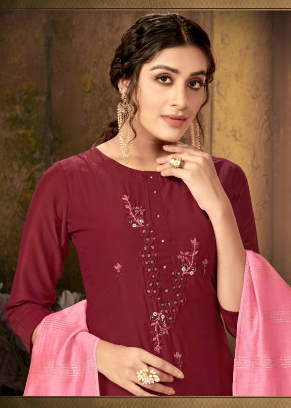 4 Colours Pulseberry Latest Fancy designer Ethnic WearHeavy Handwork on pure muslin Ready Made Salwar Suit Collection