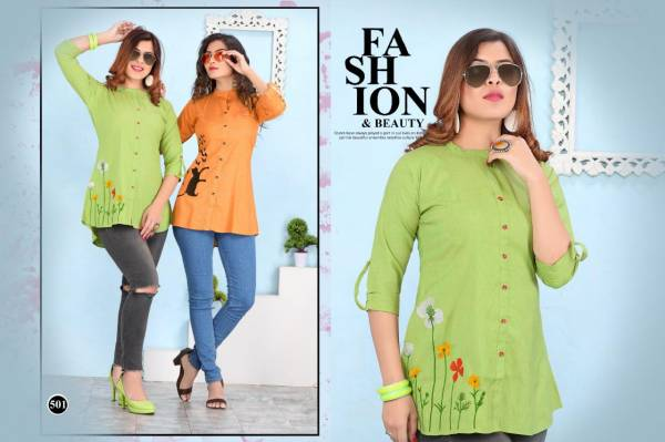 Fantasy Presents Latest Short Rayon Tops For Casual Wear