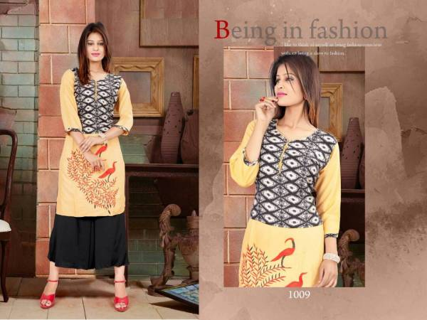 R-Kausar Vol 39 Fancy Latest Designer regular Casual Wear Rayon Printed Kurtis With palazzo Collection
