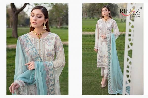 Rinaz Ramsha 8 Latest Fancy Designer Festive Wear Heavy Georgette Pakistani Salwar Suits Collection