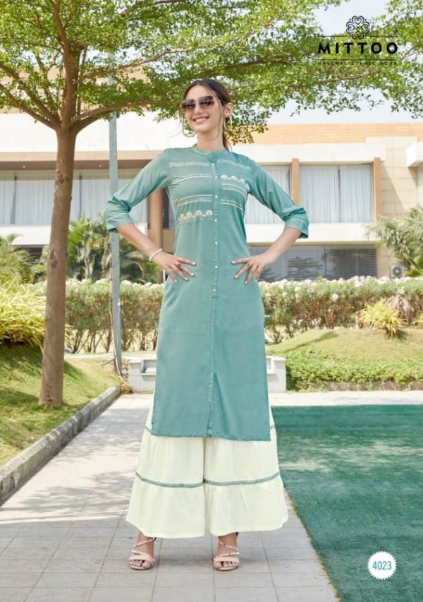 Mittoo Zohra Vol 4 Latest Designer Casual Wear Kurtis With Heavy Designer Plazzo Collection