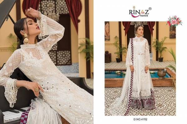 Rinaz Maryam Gold 7 Designer Fancy Festive Wear Fox georgette with Heavy Embroidery And Diamond Work Pakistani Salwar Suits Collection