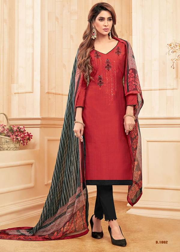 Sparsh Exclusive Latest Designer Festive Wear Cotton With Embroidery Work Top With Bottom And fancy Print Dupatta Dress Material Collection